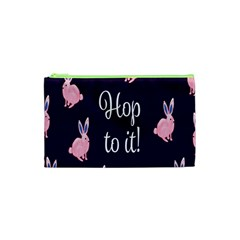 Rabbit Bunny Pink Purple Easter Animals Cosmetic Bag (xs) by Mariart