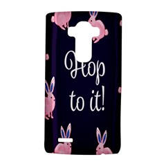 Rabbit Bunny Pink Purple Easter Animals Lg G4 Hardshell Case by Mariart