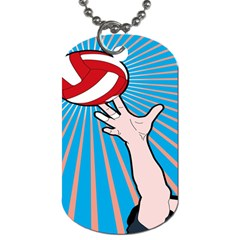 Volly Ball Sport Game Player Dog Tag (two Sides) by Mariart
