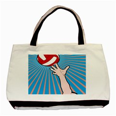 Volly Ball Sport Game Player Basic Tote Bag by Mariart