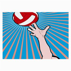Volly Ball Sport Game Player Large Glasses Cloth (2 Side) by Mariart