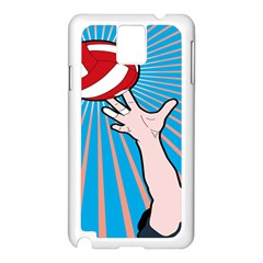 Volly Ball Sport Game Player Samsung Galaxy Note 3 N9005 Case (white) by Mariart