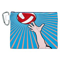 Volly Ball Sport Game Player Canvas Cosmetic Bag (xxl) by Mariart