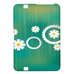Sunflower Sakura Flower Floral Circle Green Kindle Fire Hd 8 9  by Mariart