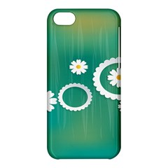 Sunflower Sakura Flower Floral Circle Green Apple Iphone 5c Hardshell Case by Mariart