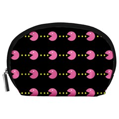 Wallpaper Pacman Texture Bright Surface Accessory Pouches (large)  by Mariart