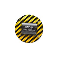 Under Construction Sign Iron Line Black Yellow Cross Golf Ball Marker (10 Pack) by Mariart