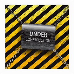 Under Construction Sign Iron Line Black Yellow Cross Medium Glasses Cloth by Mariart