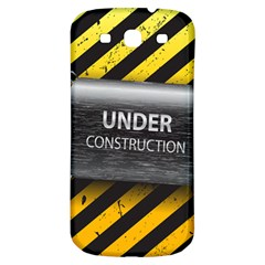 Under Construction Sign Iron Line Black Yellow Cross Samsung Galaxy S3 S Iii Classic Hardshell Back Case by Mariart