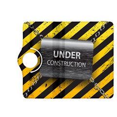Under Construction Sign Iron Line Black Yellow Cross Kindle Fire Hdx 8 9  Flip 360 Case by Mariart