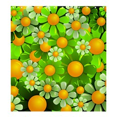 Sunflower Flower Floral Green Yellow Shower Curtain 66  X 72  (large)  by Mariart