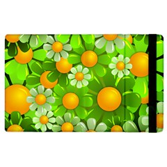 Sunflower Flower Floral Green Yellow Apple Ipad 3/4 Flip Case by Mariart