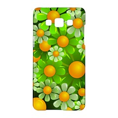 Sunflower Flower Floral Green Yellow Samsung Galaxy A5 Hardshell Case  by Mariart