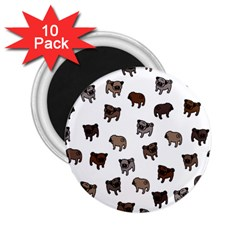 Pug Dog Pattern 2 25  Magnets (10 Pack)  by Valentinaart