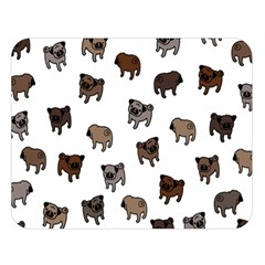 Pug Dog Pattern Double Sided Flano Blanket (large)  by Valentinaart
