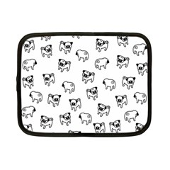 Pug Dog Pattern Netbook Case (small)  by Valentinaart