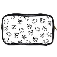 Pug Dog Pattern Toiletries Bags 2 Side by Valentinaart
