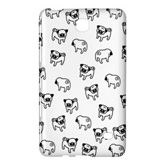 Pug Dog Pattern Samsung Galaxy Tab 4 (8 ) Hardshell Case  by Valentinaart