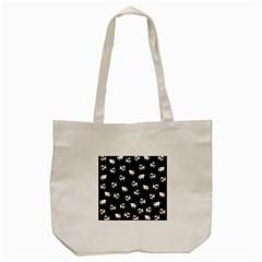 Pug Dog Pattern Tote Bag (cream) by Valentinaart