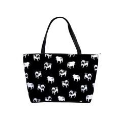 Pug Dog Pattern Shoulder Handbags by Valentinaart