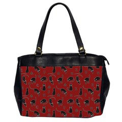 Black Cats And Witch Symbols Pattern Office Handbags (2 Sides)  by Valentinaart