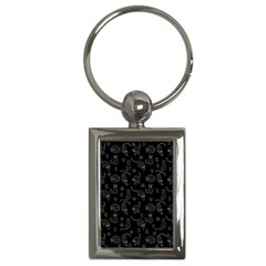 Black Cats And Witch Symbols Pattern Key Chains (rectangle)  by Valentinaart