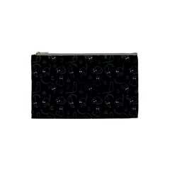 Black Cats And Witch Symbols Pattern Cosmetic Bag (small)  by Valentinaart