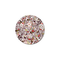 Colorful Abstract Floral Background Golf Ball Marker (10 Pack) by TastefulDesigns