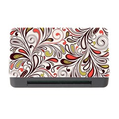 Colorful Abstract Floral Background Memory Card Reader With Cf by TastefulDesigns