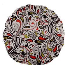 Colorful Abstract Floral Background Large 18  Premium Round Cushions by TastefulDesigns