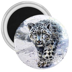Snow Leopard 3  Magnets by kostart