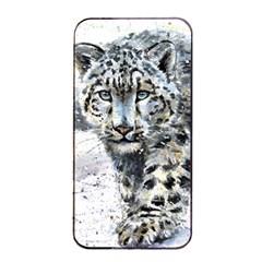 Snow Leopard Apple Iphone 4/4s Seamless Case (black) by kostart