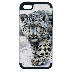 Snow Leopard Apple Iphone 5 Hardshell Case (pc+silicone)