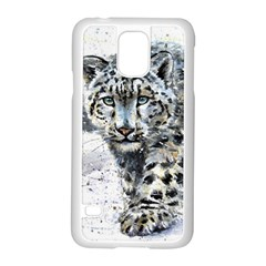 Snow Leopard Samsung Galaxy S5 Case (white) by kostart