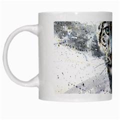 Snow Leopard  White Mugs by kostart