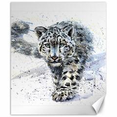 Snow Leopard  Canvas 20  X 24   by kostart