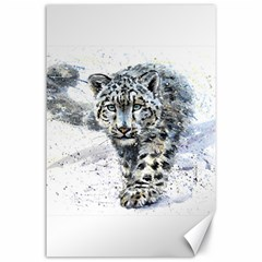 Snow Leopard  Canvas 24  X 36  by kostart