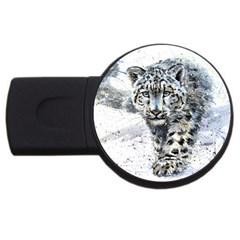 Snow Leopard  Usb Flash Drive Round (2 Gb) by kostart