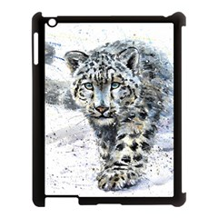 Snow Leopard  Apple Ipad 3/4 Case (black) by kostart