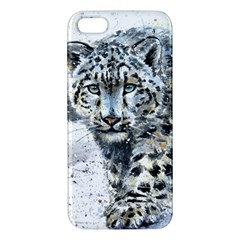 Snow Leopard  Apple Iphone 5 Premium Hardshell Case by kostart