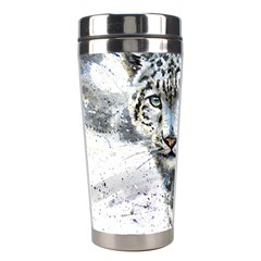 Snow Leopard  Stainless Steel Travel Tumblers by kostart