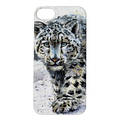 Snow Leopard  Apple Iphone 5s/ Se Hardshell Case by kostart