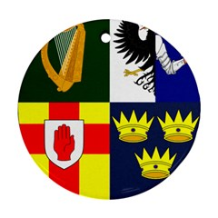 Arms Of Four Provinces Of Ireland  Round Ornament (two Sides) by abbeyz71