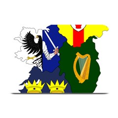 Flag Map Of Provinces Of Ireland Plate Mats by abbeyz71