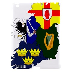 Flag Map Of Provinces Of Ireland Apple Ipad 3/4 Hardshell Case (compatible With Smart Cover) by abbeyz71