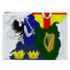 Flag Map Of Provinces Of Ireland Cosmetic Bag (xxl)  by abbeyz71