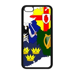 Flag Map Of Provinces Of Ireland Apple Iphone 5c Seamless Case (black) by abbeyz71