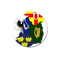 Flag Map Of Provinces Of Ireland  Magnet 3  (round) by abbeyz71