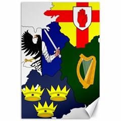Flag Map Of Provinces Of Ireland  Canvas 24  X 36  by abbeyz71