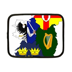 Flag Map Of Provinces Of Ireland  Netbook Case (small)  by abbeyz71